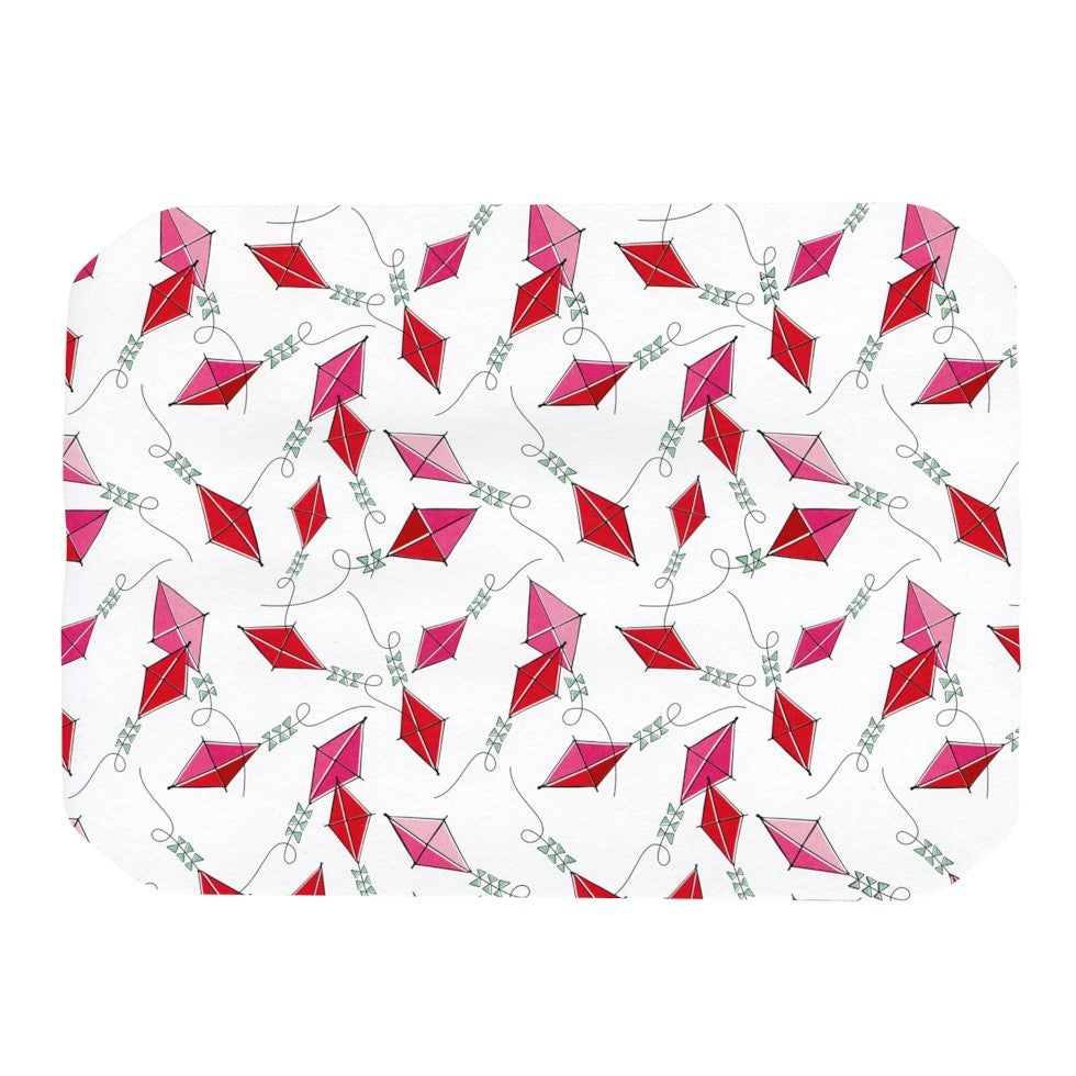 "Heidi Jennings ""Go Fly A Kite"" White Pink Place Mat - KESS InHouse"