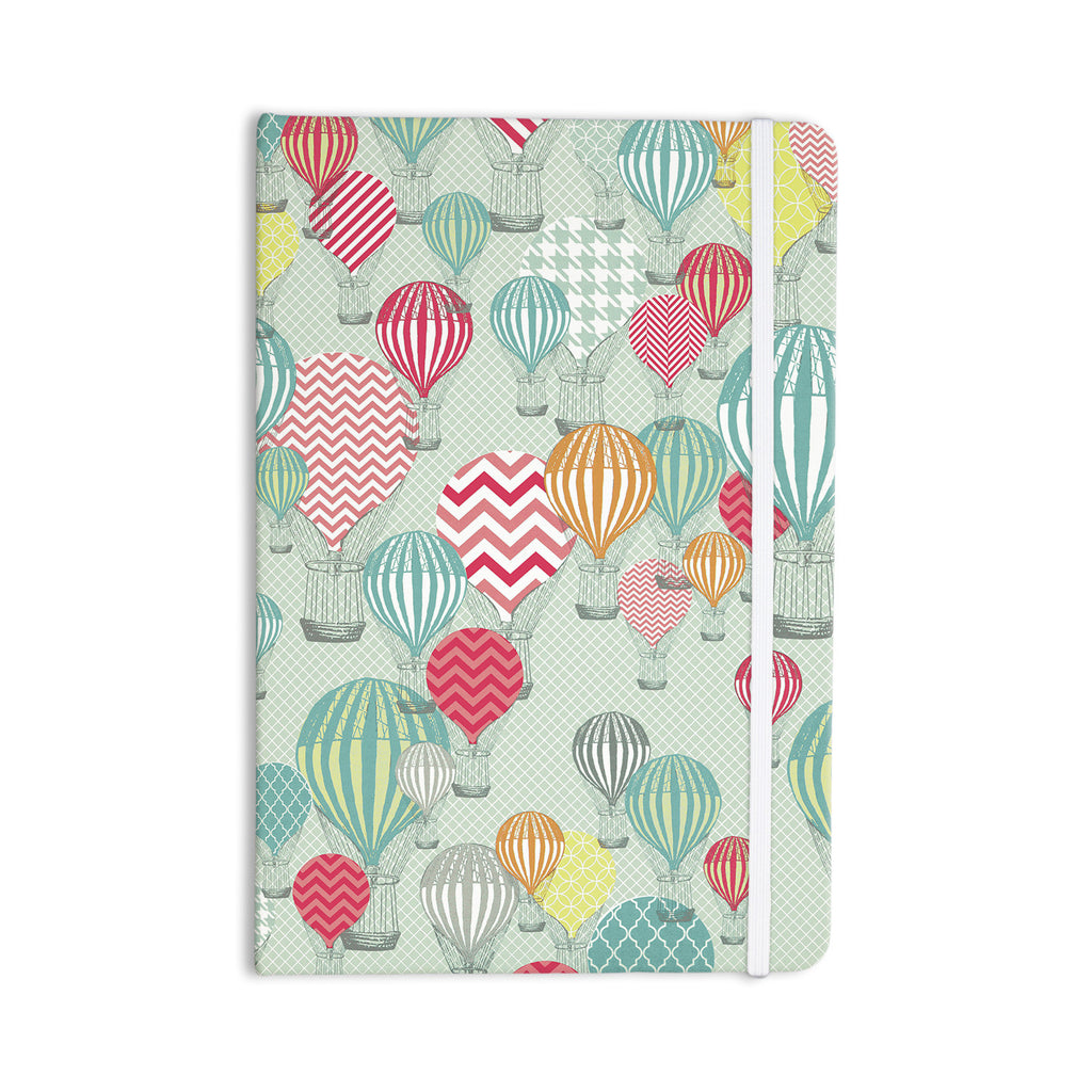 "Heidi Jennings ""Hot Air Baloons"" Teal Multicolor Everything Notebook - KESS InHouse  - 1"