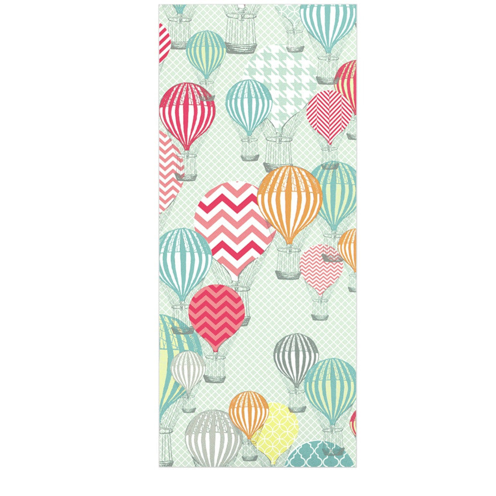 "Heidi Jennings ""Hot Air Baloons"" Teal Multicolor Luxe Rectangle Panel - KESS InHouse  - 1"