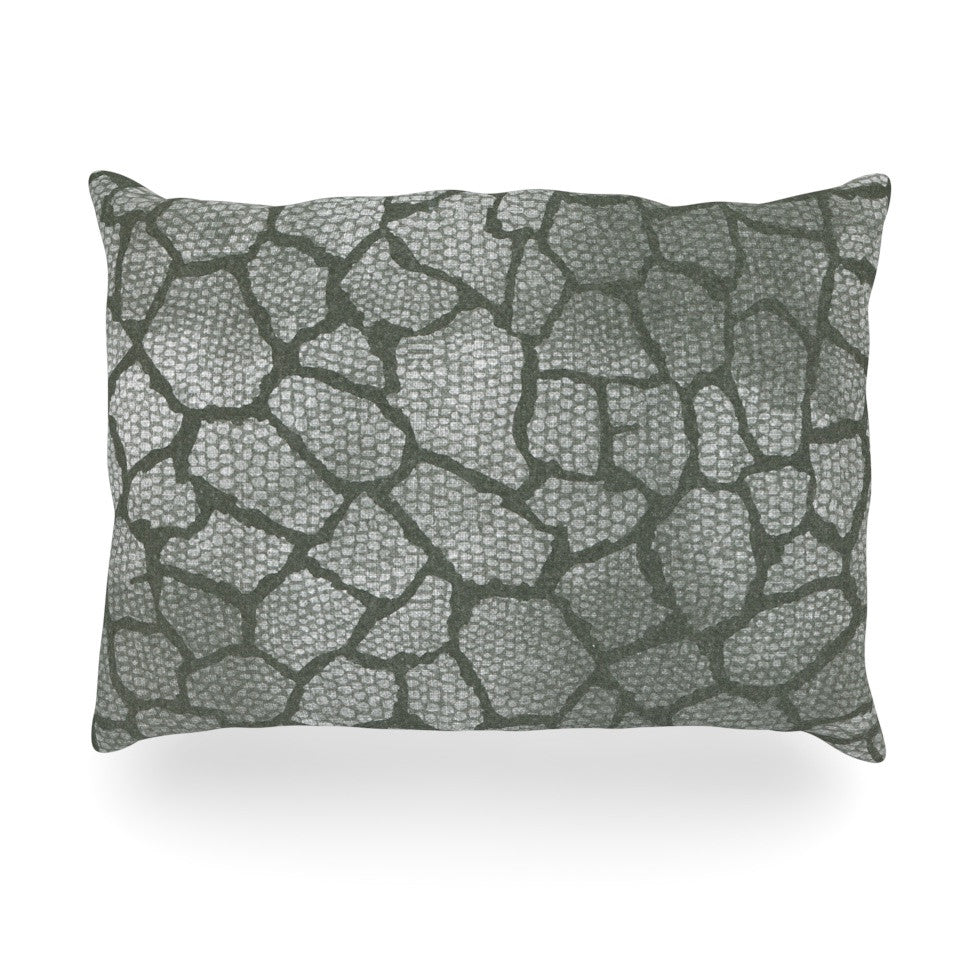 "Heidi Jennings ""Gray Snake Skin"" Grey Oblong Pillow - KESS InHouse"