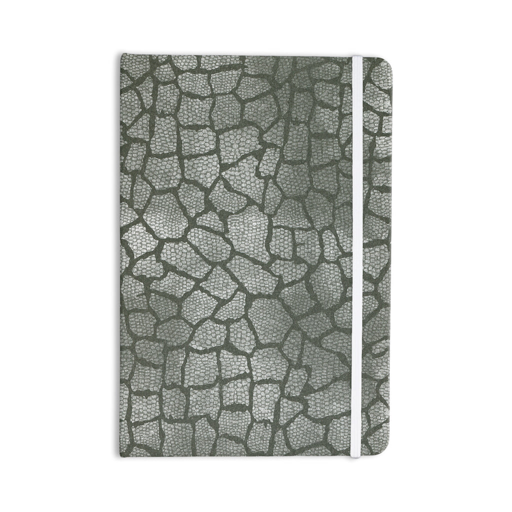 "Heidi Jennings ""Gray Snake Skin"" Grey Everything Notebook - KESS InHouse  - 1"
