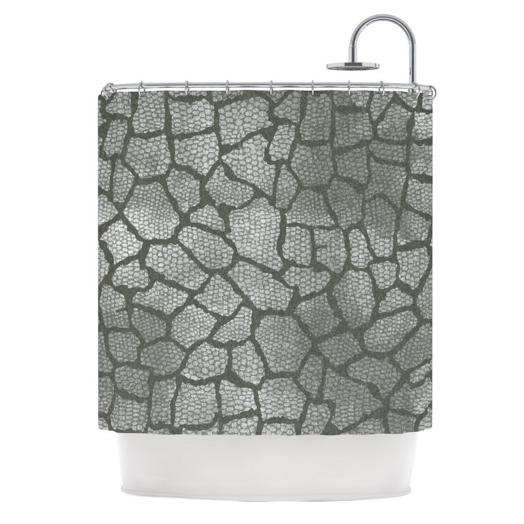 "Heidi Jennings ""Gray Snake Skin"" Grey Shower Curtain - KESS InHouse"