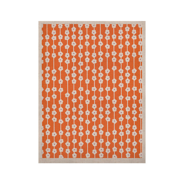 "Heidi Jennings ""Orange You Cute"" Tangerine White KESS Naturals Canvas (Frame not Included) - KESS InHouse  - 1"