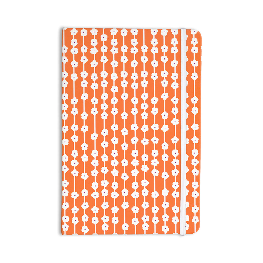 "Heidi Jennings ""Orange You Cute"" Tangerine White Everything Notebook - KESS InHouse  - 1"