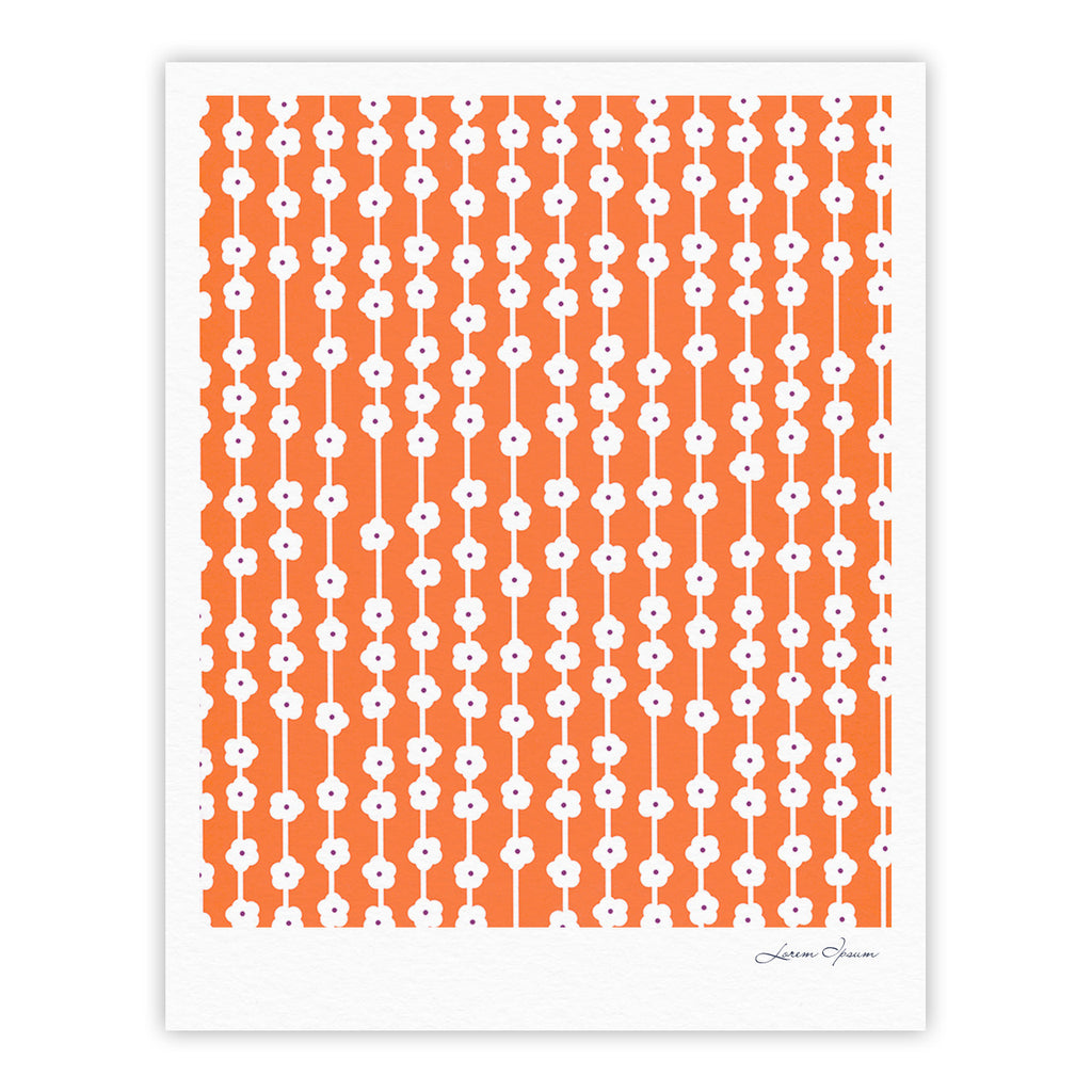"Heidi Jennings ""Orange You Cute"" Tangerine White Fine Art Gallery Print - KESS InHouse"
