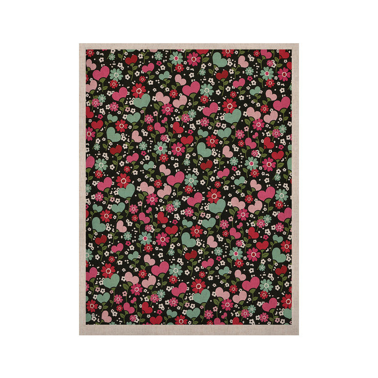 "Heidi Jennings ""Love is Growing"" Pink Green KESS Naturals Canvas (Frame not Included) - KESS InHouse  - 1"