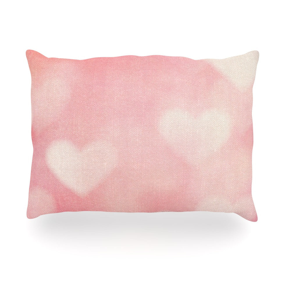"Heidi Jennings ""Love is in the Air"" Pink Oblong Pillow - KESS InHouse"