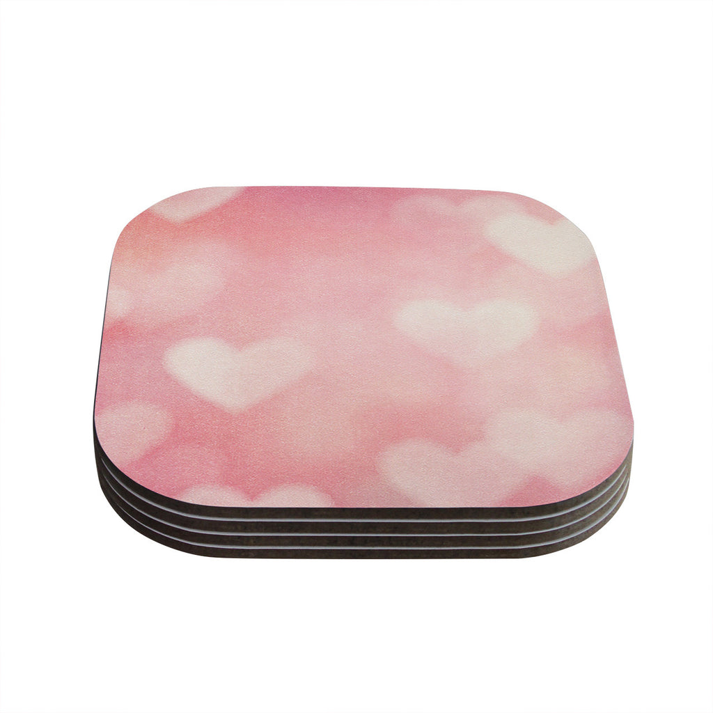"Heidi Jennings ""Love is in the Air"" Pink Coasters (Set of 4)"
