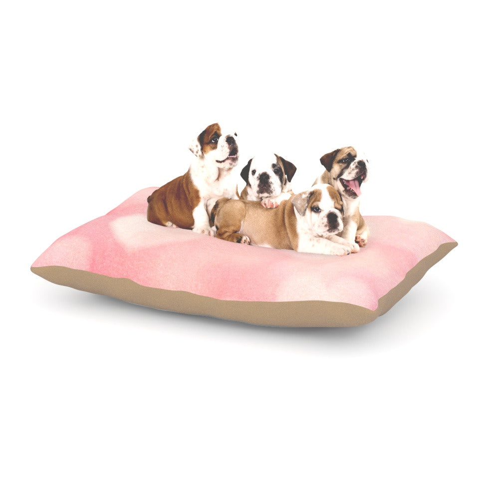 "Heidi Jennings ""Love is in the Air"" Pink Dog Bed - KESS InHouse  - 1"