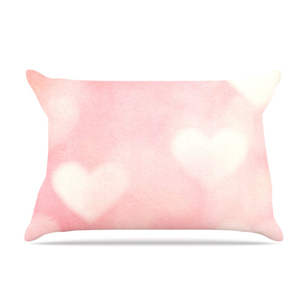 "Heidi Jennings ""Love is in the Air"" Pink Pillow Sham - KESS InHouse"