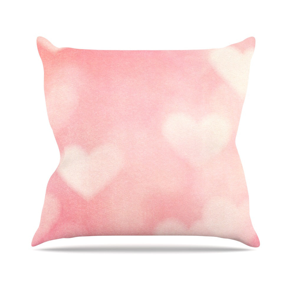 "Heidi Jennings ""Love is in the Air"" Pink Throw Pillow - KESS InHouse  - 1"