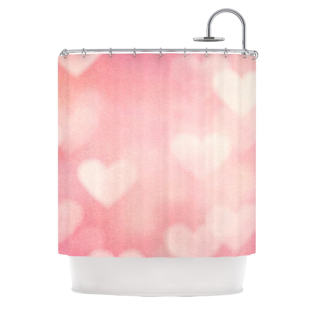 "Heidi Jennings ""Love is in the Air"" Pink Shower Curtain - KESS InHouse"