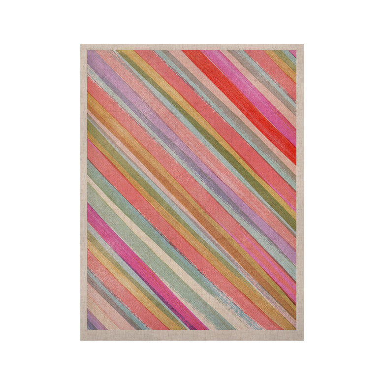 "Heidi Jennings ""Pastel Stripes"" Pink Multicolor KESS Naturals Canvas (Frame not Included) - KESS InHouse  - 1"
