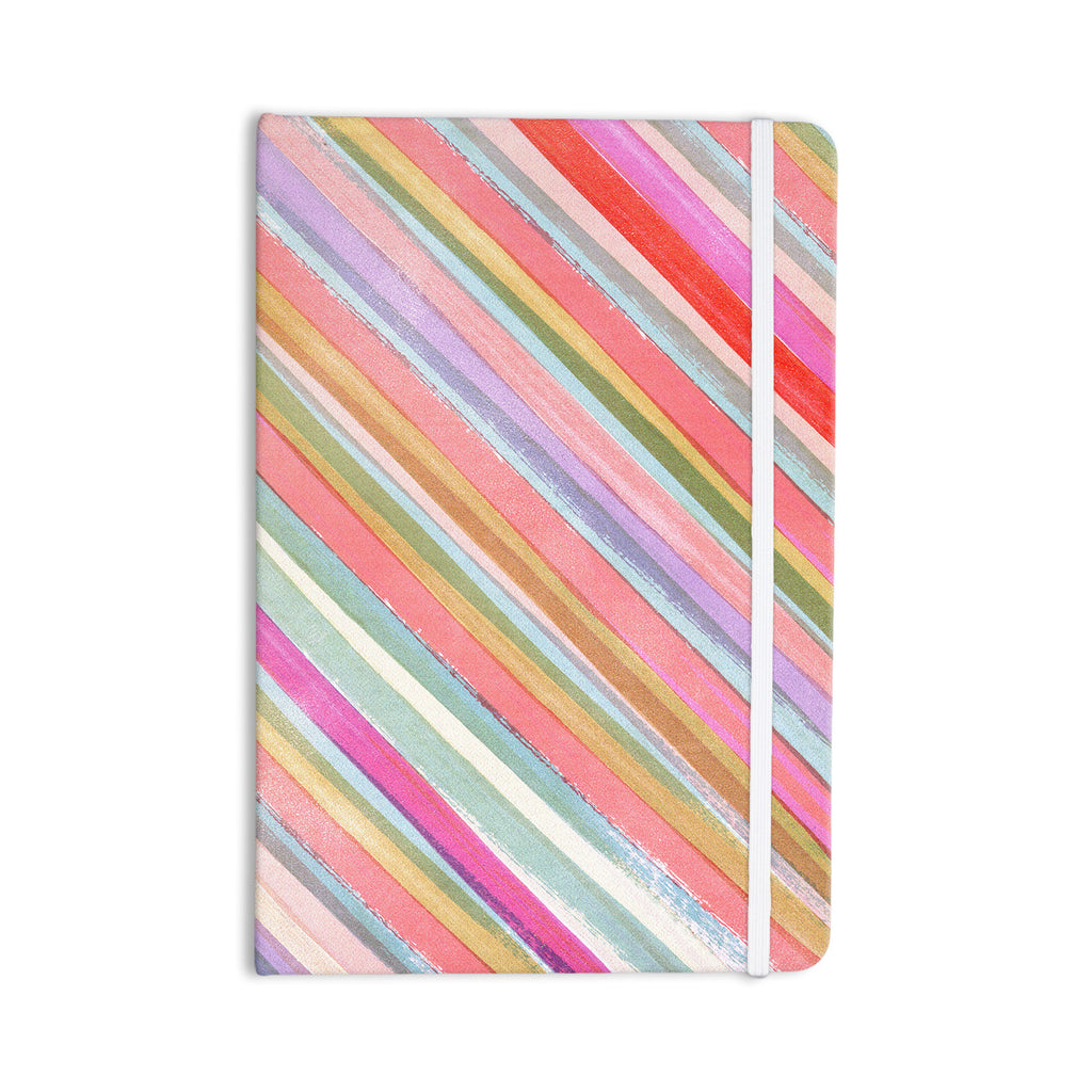 "Heidi Jennings ""Pastel Stripes"" Pink Multicolor Everything Notebook - KESS InHouse  - 1"