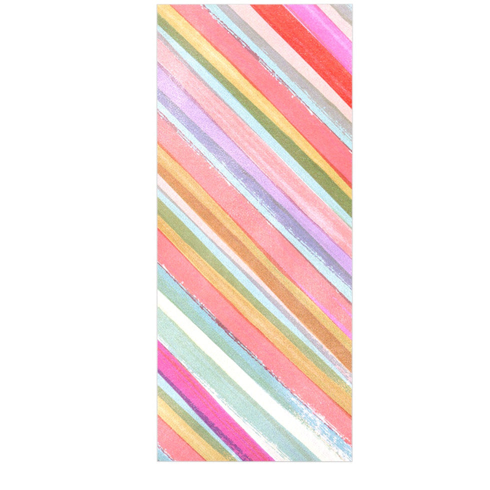 "Heidi Jennings ""Pastel Stripes"" Pink Multicolor Luxe Rectangle Panel - KESS InHouse  - 1"