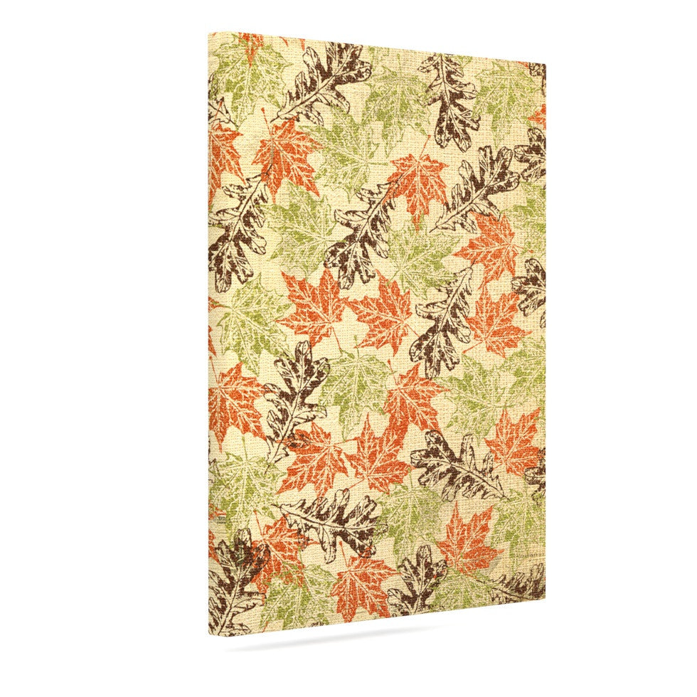 "Heidi Jennings ""Leaf it to Me"" Green Brown Canvas Art - KESS InHouse  - 1"