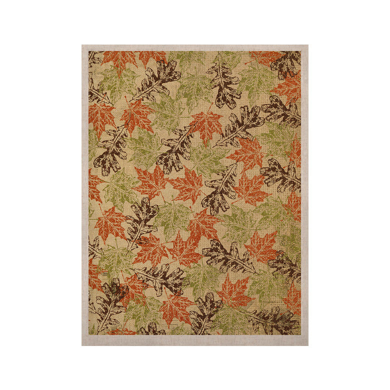 "Heidi Jennings ""Leaf it to Me"" Green Brown KESS Naturals Canvas (Frame not Included) - KESS InHouse  - 1"