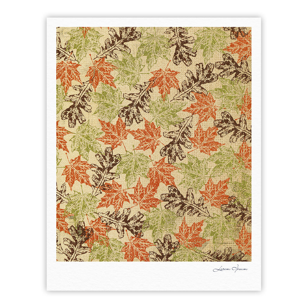 "Heidi Jennings ""Leaf it to Me"" Green Brown Fine Art Gallery Print - KESS InHouse"