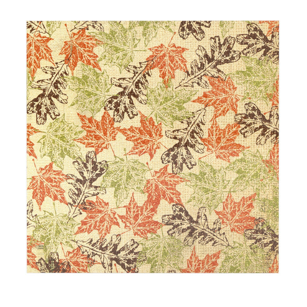 "Heidi Jennings ""Leaf it to Me"" Green Brown Luxe Square Panel - KESS InHouse  - 1"