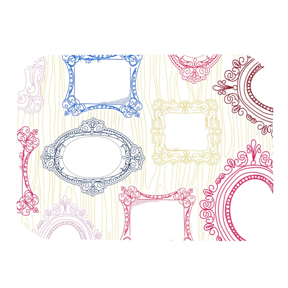 "Heidi Jennings ""I've Been Framed"" White Multicolor Place Mat - KESS InHouse"