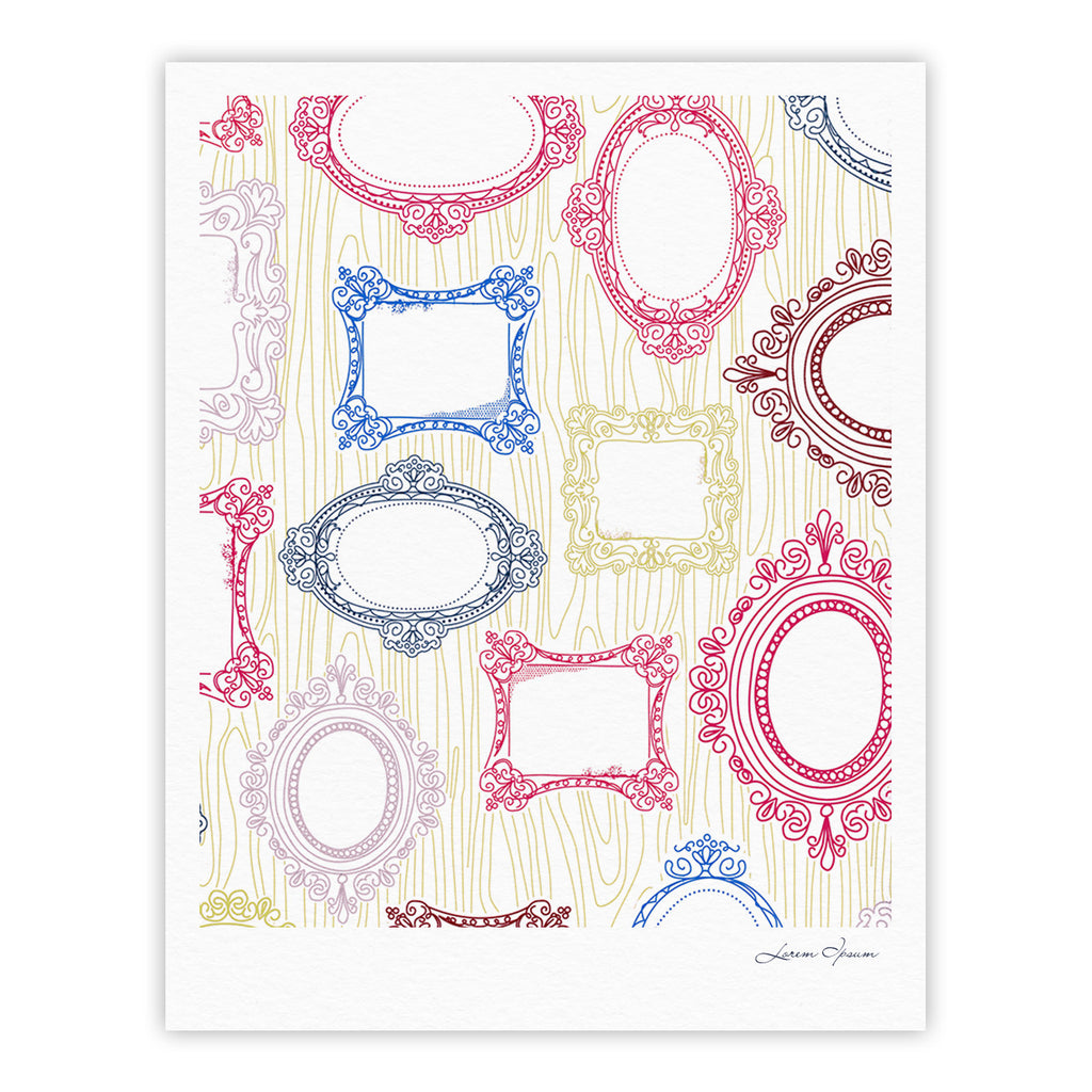 "Heidi Jennings ""I've Been Framed"" White Multicolor Fine Art Gallery Print - KESS InHouse"