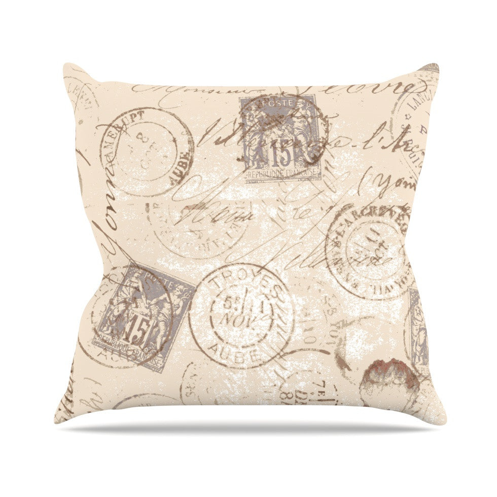 "Heidi Jennings ""World Traveler"" Brown Throw Pillow - KESS InHouse  - 1"