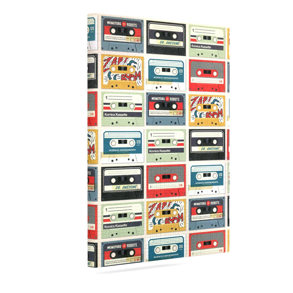 "Heidi Jennings ""Retro Tape"" Multicolor Canvas Art - KESS InHouse  - 1"