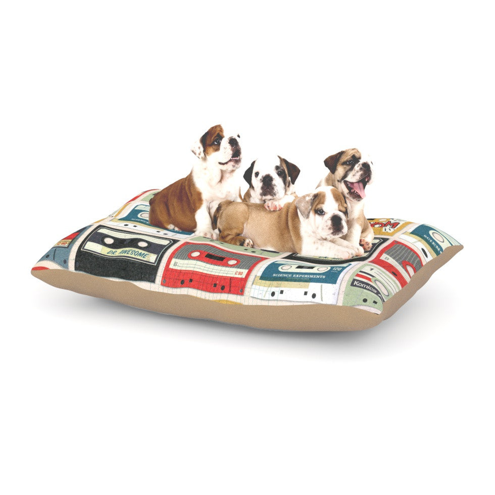 "Heidi Jennings ""Retro Tape"" Multicolor Dog Bed - KESS InHouse  - 1"