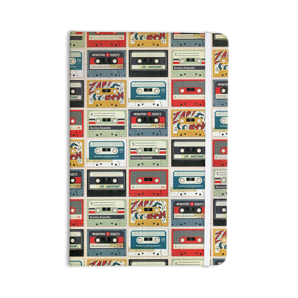 "Heidi Jennings ""Retro Tape"" Multicolor Everything Notebook - KESS InHouse  - 1"