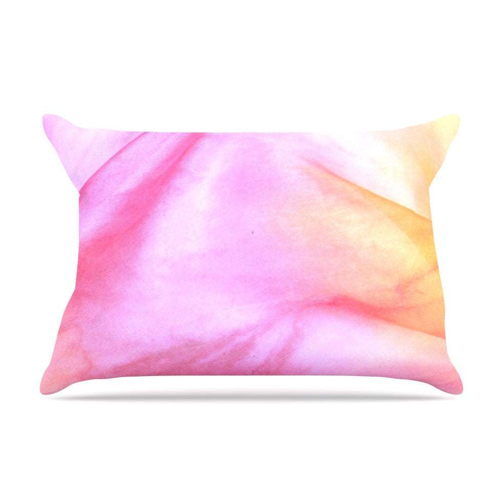 "Heidi Jennings ""Pastel Haze"" Pink Orange Pillow Sham - KESS InHouse"