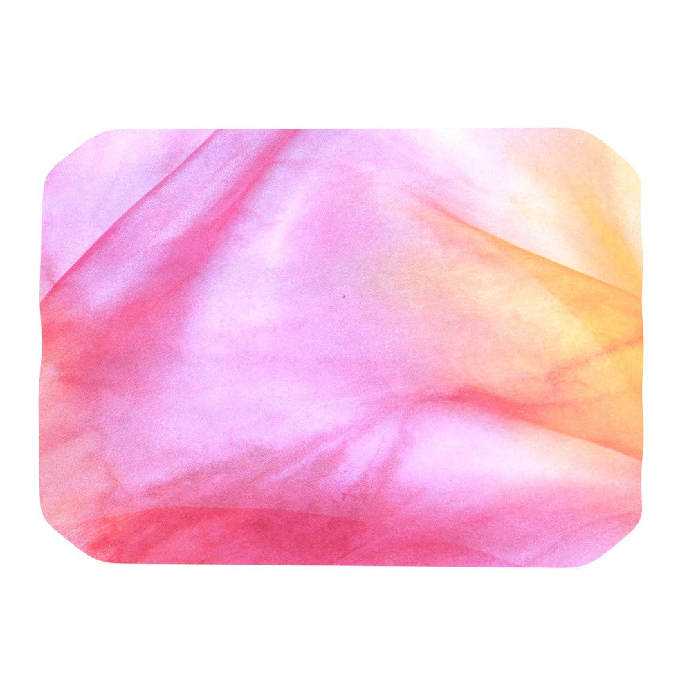 "Heidi Jennings ""Pastel Haze"" Pink Orange Place Mat - KESS InHouse"