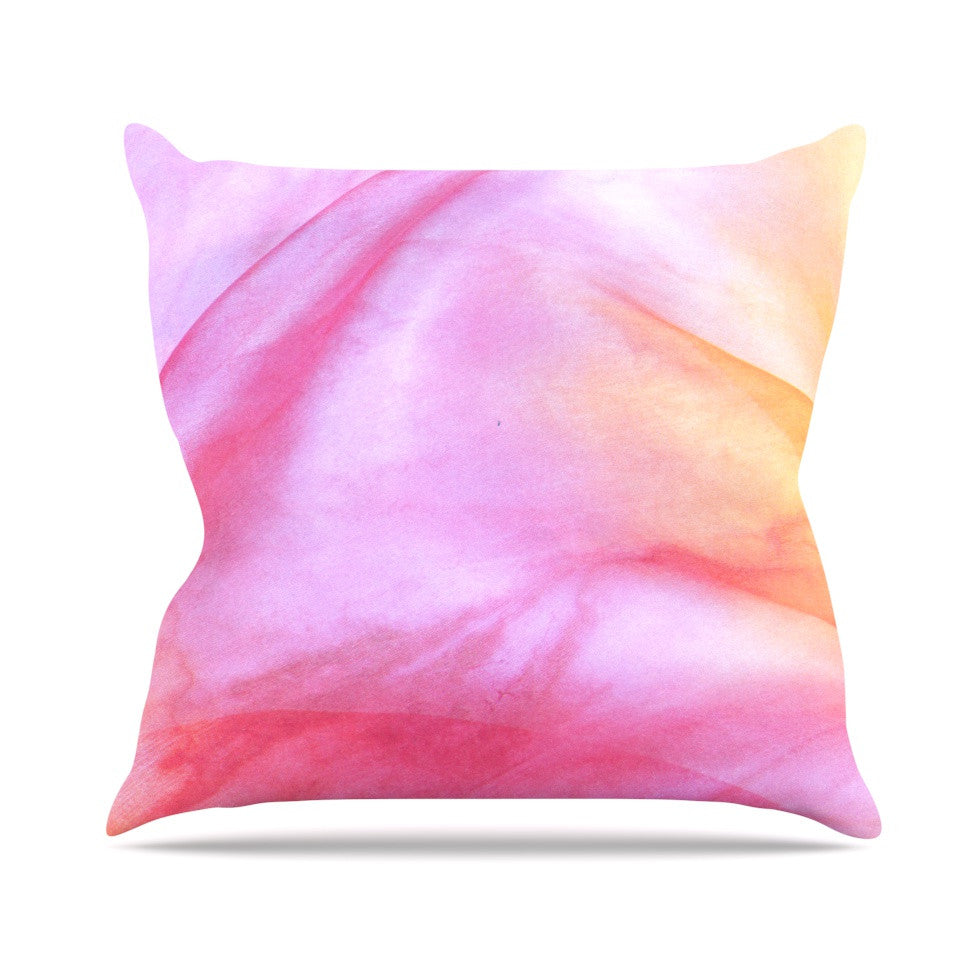 "Heidi Jennings ""Pastel Haze"" Pink Orange Throw Pillow - KESS InHouse  - 1"