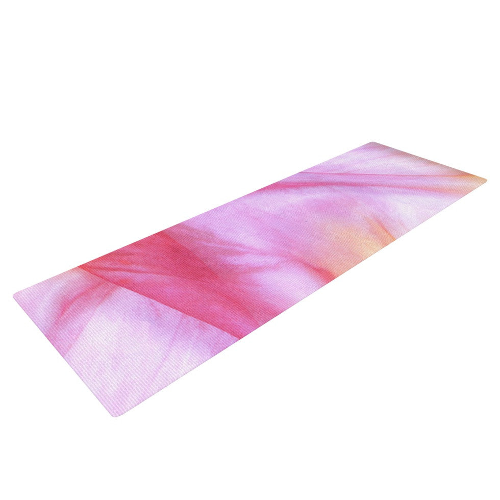 "Heidi Jennings ""Pastel Haze"" Pink Orange Yoga Mat - KESS InHouse  - 1"