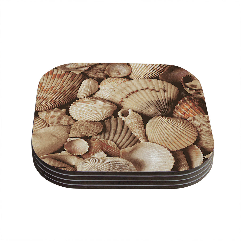 "Heidi Jennings ""Shells"" -Tags Coasters (Set of 4)"