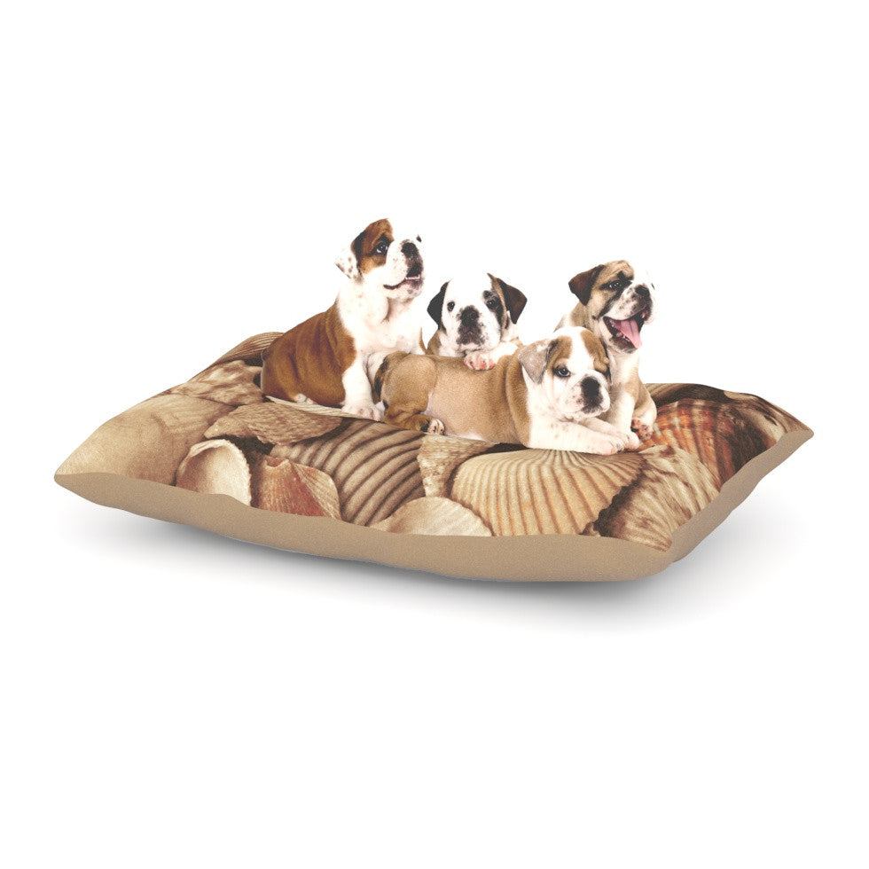 "Heidi Jennings ""Shells"" -Tags Dog Bed - KESS InHouse  - 1"