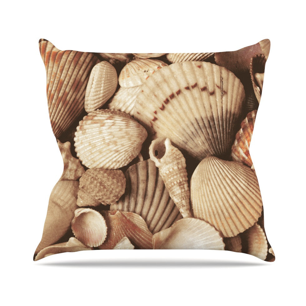 "Heidi Jennings ""Shells"" -Tags Outdoor Throw Pillow - KESS InHouse  - 1"