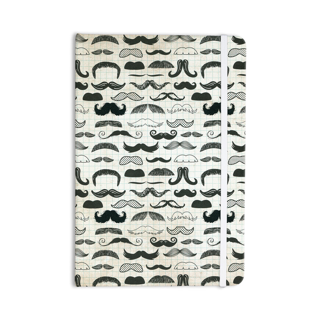 "Heidi Jennings ""Stached"" Gray Black Everything Notebook - KESS InHouse  - 1"