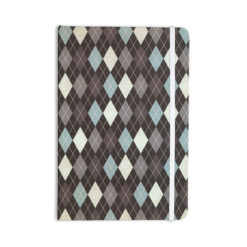 "Heidi Jennings ""Argyle"" Blue Gray Everything Notebook - KESS InHouse  - 1"