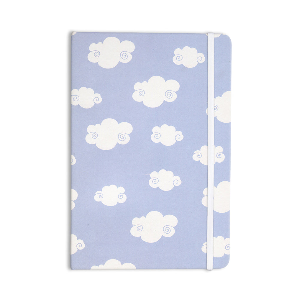 "Heidi Jennings ""Happy Clouds"" White Blue Everything Notebook - KESS InHouse  - 1"