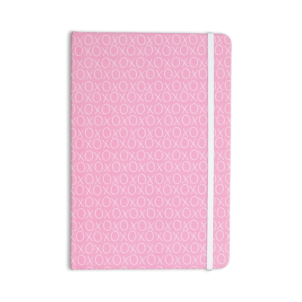 "Heidi Jennings ""Hugs & Kisses"" Pink Pattern Everything Notebook - KESS InHouse  - 1"