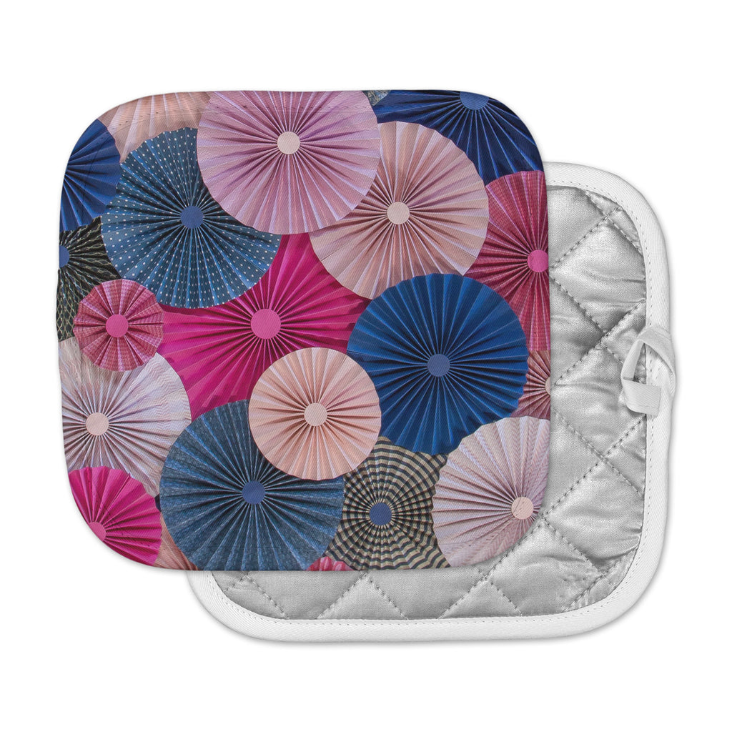 "Heidi Jennings ""Navy Pink"" Magenta Blue Pot Holder"