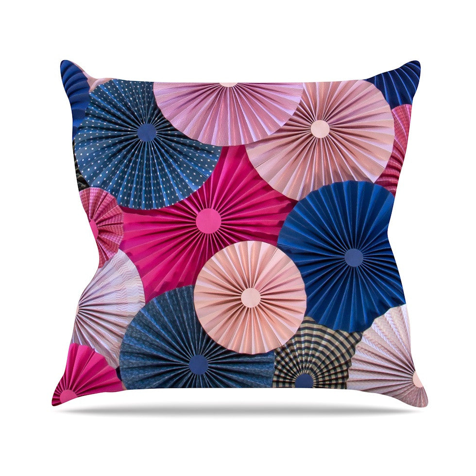 "Heidi Jennings ""Navy Pink"" Magenta Blue Throw Pillow - KESS InHouse  - 1"