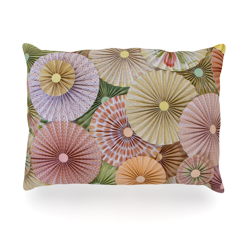 "Heidi Jennings ""Spring"" Pastels Abstract Oblong Pillow - KESS InHouse"