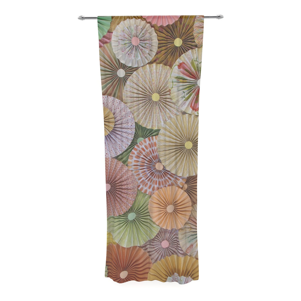 "Heidi Jennings ""Spring"" Pastels Abstract Decorative Sheer Curtain - KESS InHouse  - 1"