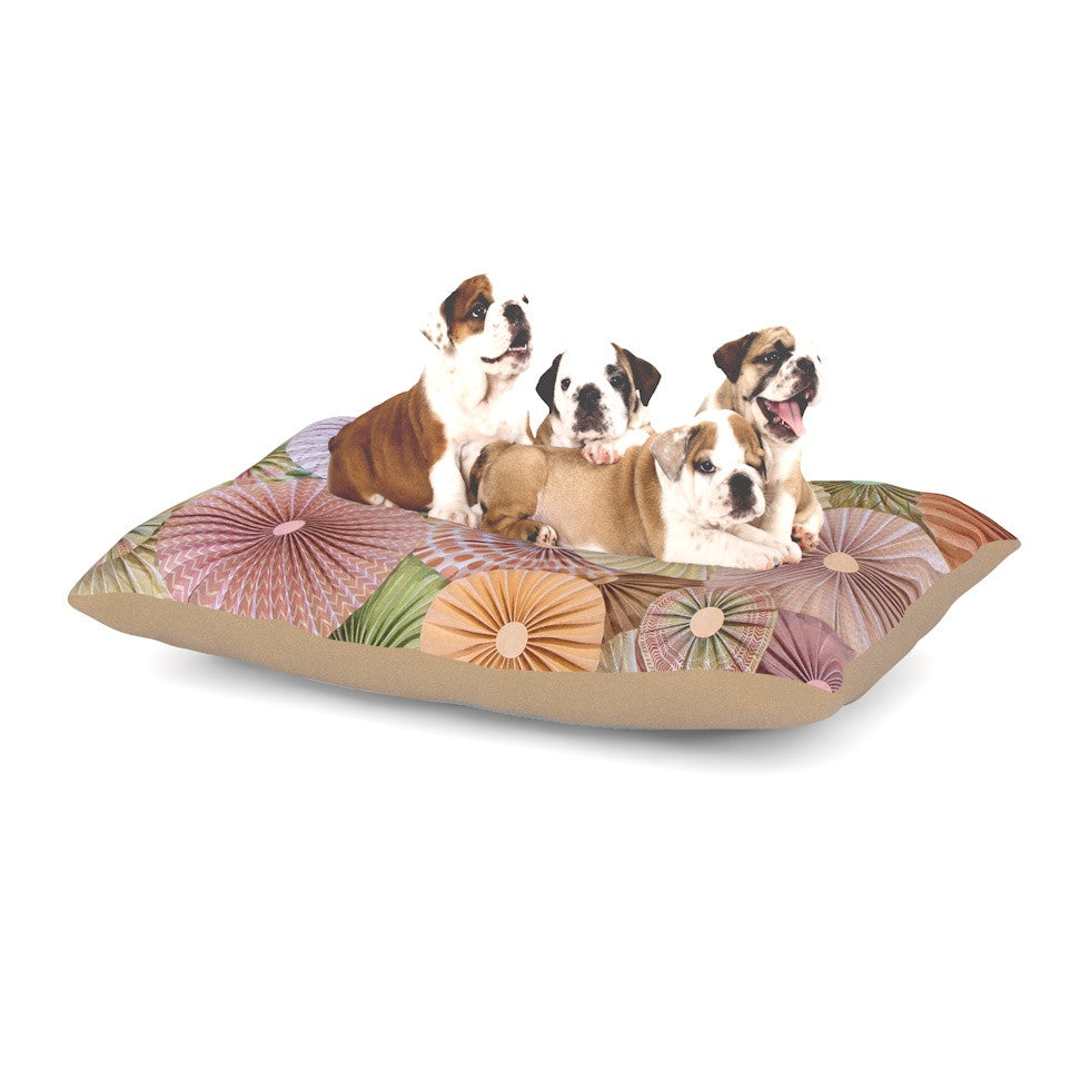 "Heidi Jennings ""Spring"" Pastels Abstract Dog Bed - KESS InHouse  - 1"