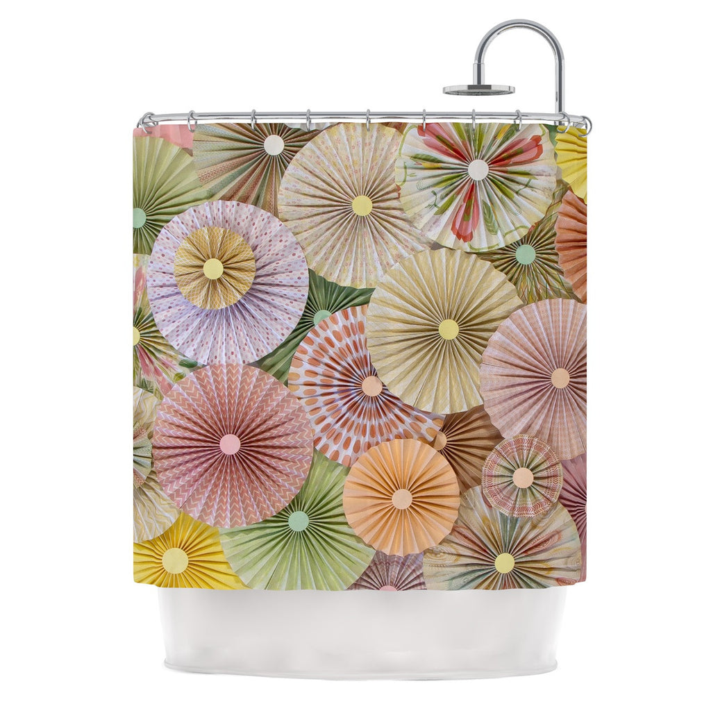 "Heidi Jennings ""Spring"" Pastels Abstract Shower Curtain - KESS InHouse"