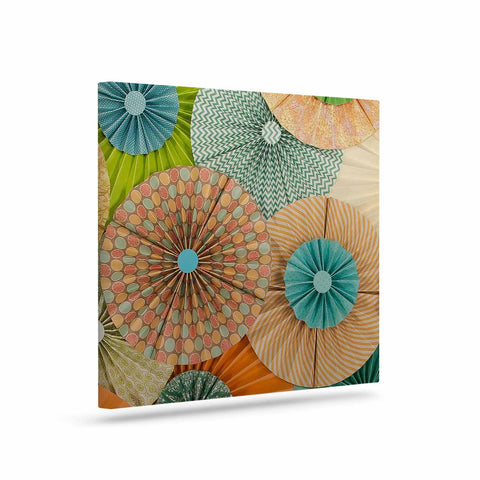 "Heidi Jennings ""Summer Party"" Teal Orange Canvas Art - Outlet Item"