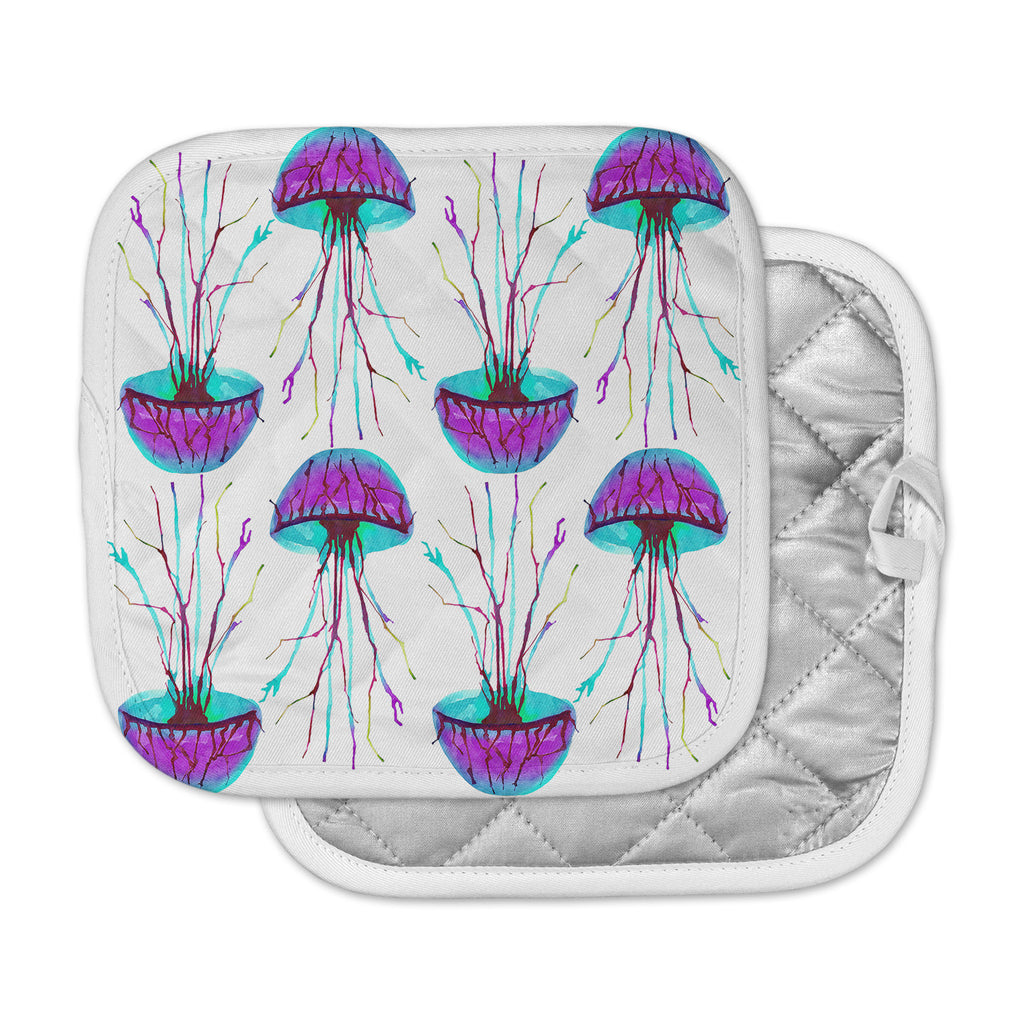 "Ivan Joh ""Jellyfish"" Purple Aqua Pot Holder"