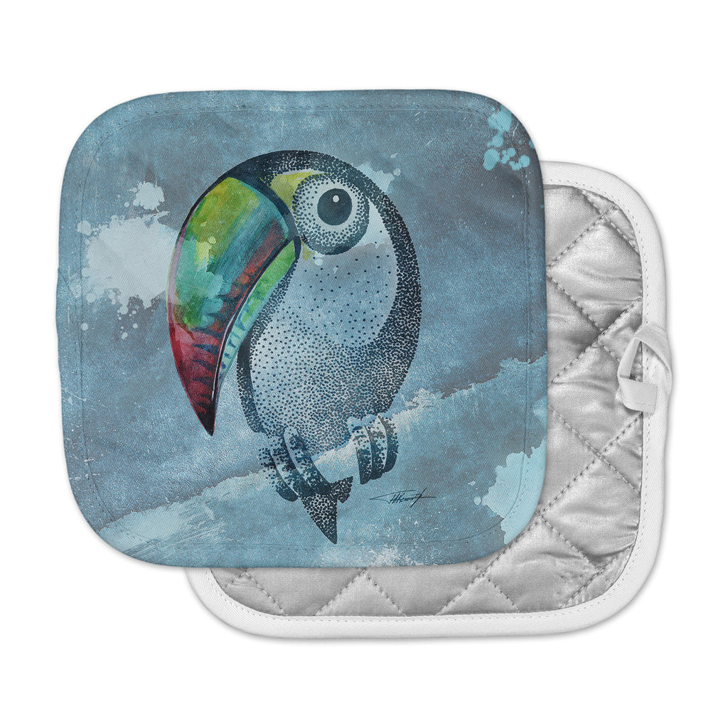 "Ivan Joh ""Tucan"" Blue Pastel Pot Holder"