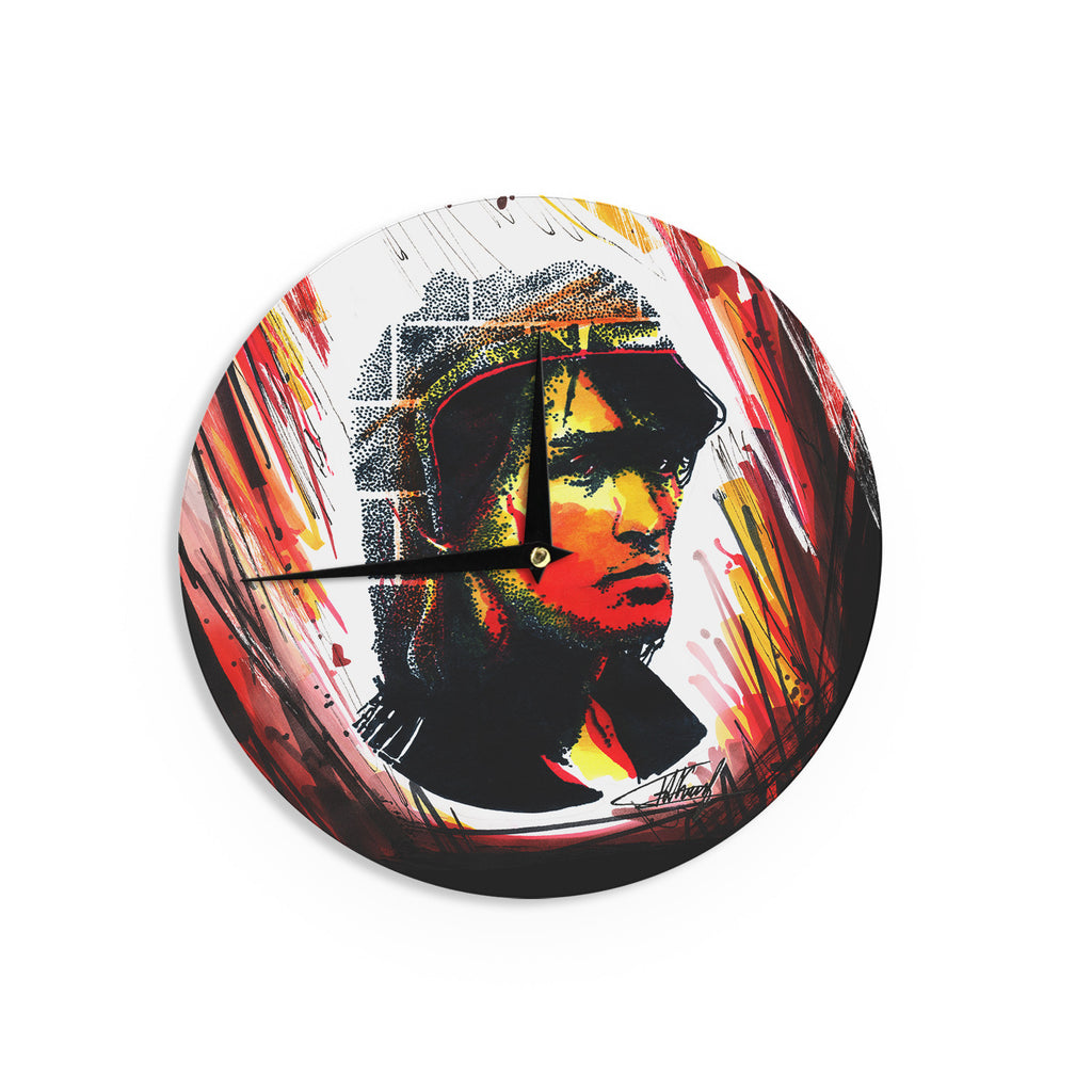 "Ivan Joh ""Tsoi Is Alive"" Red People Wall Clock - KESS InHouse"